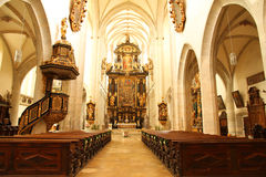 Interior of the Cathedral of Kaisheim Royalty Free Stock Images