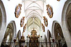 Interior of the Cathedral of Kaisheim Stock Photo