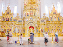 Interior of cathedral in Kharkov Stock Images