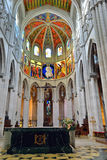 Interior of the cathedral La Almudena Royalty Free Stock Image