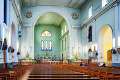 Interior of the Cathedral of Macau Royalty Free Stock Images
