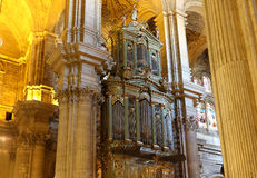 Interior Cathedral of Malaga--is a Renaissance church in the city of Malaga, Andalusia, southern Spain. The interior Cathedral of Malaga--is a Renaissance church Stock Images