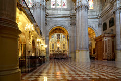 Interior Cathedral of Malaga--is a Renaissance church in the city of Malaga, Andalusia, southern Spain Royalty Free Stock Photography