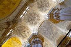 Interior Cathedral of Malaga--is a Renaissance church in the city of Malaga, Andalusia, southern Spain stock images