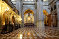 Interior Cathedral of Malaga--is a Renaissance church in the city of Malaga, Andalusia, southern Spain Stock Photo