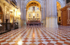 Interior Cathedral of Malaga--is a Renaissance church in the city of Malaga, Andalusia, southern Spain stock photos
