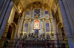 Interior Cathedral of Malaga--is a Renaissance church in the city of Malaga, Andalusia, southern Spain Royalty Free Stock Image