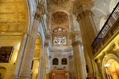 Interior Cathedral of Malaga--is a Renaissance church in the city of Malaga, Andalusia, southern Spain Stock Photography