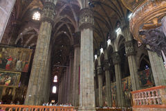 Interior of cathedral of Milan, Italy Royalty Free Stock Photos