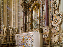 Interior of the Cathedral of Montreale or Duomo di Monreale near Palermo, Sicily, Italy. Stock Photography