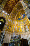 Interior of the Cathedral of Montreale or Duomo di Monreale near Palermo, Sicily, Italy. Royalty Free Stock Photography