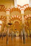 Interior of cathedral-mosque of Cordoba, Andalusia, Spain. Stock Image