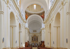 Interior of the Cathedral - Noto Royalty Free Stock Photos