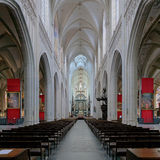 Interior of the Cathedral of Our Lady in Antwerp Royalty Free Stock Photos