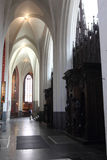 Interior of the Cathedral of Our Lady in Antwerp Royalty Free Stock Photography