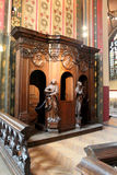 Interior of the Cathedral of Our Lady in Antwerp Stock Images