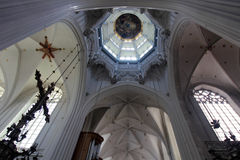 Interior of the Cathedral of Our Lady in Antwerp Stock Image