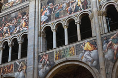 Interior Cathedral. Parma. Emilia-Romagna. Italy. Stock Photo