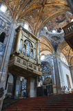 Interior Cathedral. Parma. Emilia-Romagna. Italy. Royalty Free Stock Images