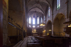Interior of Cathedral of Pedralbes Royalty Free Stock Images