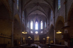 Interior of Cathedral of Pedralbes Stock Photography
