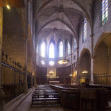 Interior of Cathedral of Pedralbes Monastery Royalty Free Stock Photography