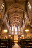 Interior of Cathedral of Pedralbes Monastery Royalty Free Stock Images