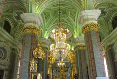 The interior of the cathedral Royalty Free Stock Image