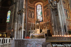 Interior Cathedral of Piacenza. Italy. Royalty Free Stock Photos