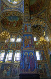 Interior of the Cathedral of the Resurrection of Christ in Saint Petersburg, Russia. Church of the Savior on Blood Stock Photography