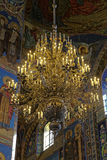 Interior of the Cathedral of the Resurrection of Christ in Saint Petersburg, Russia. Church of the Savior on Blood Royalty Free Stock Photos