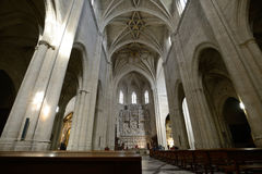 Interior of Cathedral of Saint Mary Stock Photography