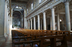 Interior of Cathedral of Saint Peter in Mantua Stock Photography