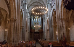 Interior of Cathedral Saint Pierre in Geneva Royalty Free Stock Images