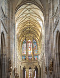 Interior of the Cathedral of Saints Vitus - Prague Stock Photo