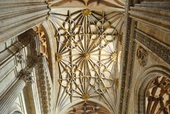 Interior of the Cathedral in Salamanca Royalty Free Stock Photos