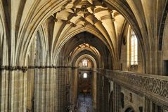 Interior of the Cathedral in Salamanca Stock Photos