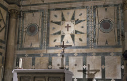 Interior of the Cathedral Santa Maria del Fiore in Florence Royalty Free Stock Images