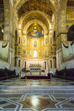 Interior of the cathedral Santa Maria Nuova of Monreale in Sicily, Italy Stock Photo