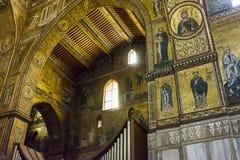 Interior of the cathedral Santa Maria Nuova of Monreale in Sicily, Italy Royalty Free Stock Photo
