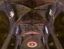 Interior of Cathedral of Santa Maria of Palma (La Seu) Stock Images