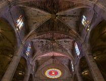 Interior of Cathedral of Santa Maria of Palma (La Seu). In Palma de Mallorca (Majorca Stock Images