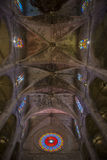 Interior of Cathedral of Santa Maria of Palma (La Seu) Stock Photo