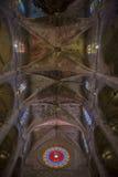 Interior of Cathedral of Santa Maria of Palma (La Seu). In Palma de Mallorca (Majorca Stock Photo
