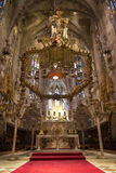 Interior of Cathedral of Santa Maria of Palma (La Seu) Stock Image