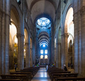 Interior of Cathedral of  Santiago de Compostela Royalty Free Stock Photo
