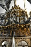Interior in cathedral Santiago de Compostela, Spain Royalty Free Stock Photos