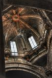 Interior in cathedral Santiago de Compostela, Spain Stock Photography