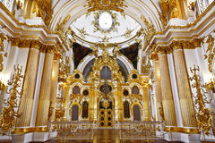 The interior of the Cathedral of the Saviour in the Winter Palace, the Hermitage. Stock Photos