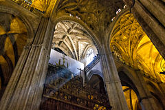 Interior of Cathedral of Seville Royalty Free Stock Photos